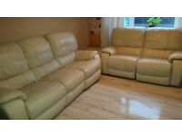 Large Italian leather suite