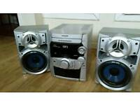 Panasonic 5cd changer mp3stereo system