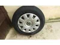 Vw golf five stud wheels & Tyre's