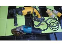 Dewalt hammer drill 110V & Makita grinder 110V
