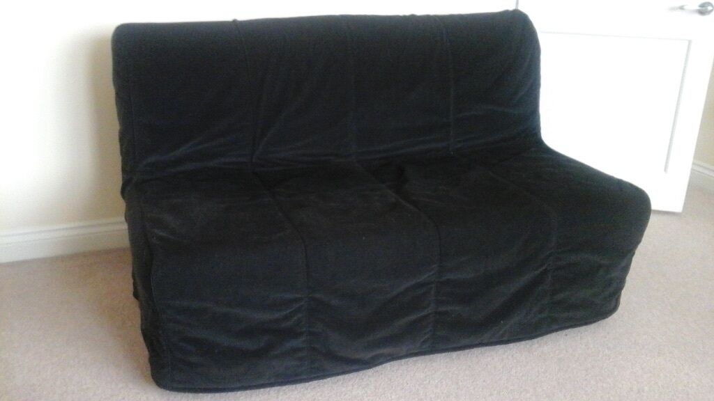 Ikea Lycksele Lovas With Two Covers Black Amp Beige In