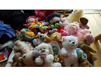 recycling bag of baby toys and teddies