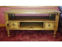 Quality Antique Pine solid wood coffee table