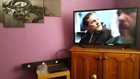 """Jvc 42"""" tv with built in freeview"""