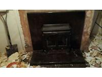 Log burner back boiler