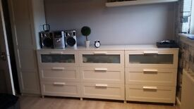 Ikea 3x Chest of 3 drawers +Wardrobe+Desk and chair