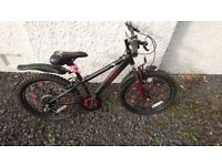Boys Black and Red Mountain Bike with gears
