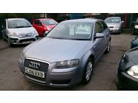 2006 AUDI 1.6 A3 3 DOOR IN SILVER MAY 2017 MOT DONE 110K F/S/H NEW T/BELT ALLOYS CD AIRCON E/W E/M +