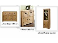 BRAND NEW ULTIMO 3 Piece Solid Wood Free Standing 2 + 3 DRAWER Large Sideboard 3 Shelves Cabinet Set