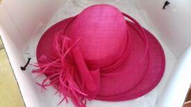 Stunning fushia hat