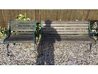 garden bench and chair cast iron ends