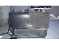 Black and gold river island bag/satchel