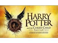 Harry Potter and the Cursed Child tickets. Parts 1 and 2- Saturday 7th October 2017- Stalls