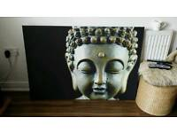 Large budda print canvas