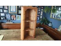 Solid Vintage Pine Corner Shelf