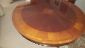 Inlaid, Coffee Table, inlaid compass design, complete with optional safety glass protective top.