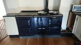 Aga 13 amp 2 oven cooker plus 2 oven electric module in oxford blue (2007 chrome catch model)