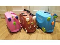 3 Trunki cases. Pink, Blue and Gruffalo.
