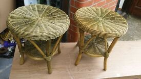 Wicker Stools coffee tables.
