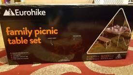 Eurohike Family picnic table set