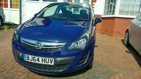 2014 Vauxhall Corsa 1.0 Eco Flex 3 Door Blue Low mileage - 24601 2 Keys FSHU