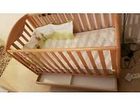 wooden cot with baby mattress , Hygiene and care for your baby with excellent orthopedic support