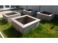 FOUR 3x3ft square raised flower beds