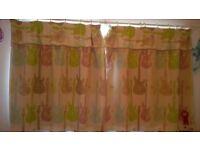 KIDS Guitar pattern - single duvet sets + A pair of curtains