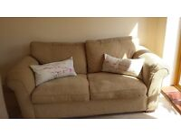 Laura Ashley sofa bed for sale. Two seater, easy to pull out with smooth mechanical action.