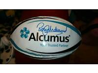 Rugby Ball autographed by Rory Underwood
