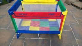 Graco Travel Cot Multicolour - very good condition £12.00