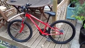 "Childs Mountain Bike 24"" wheels as new in Red, front suspension"