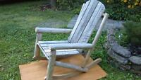 Rustic cedar and oak rocking chair