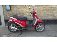New Red Piaggio Liberty 50 4T Scooter