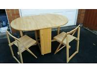 Rubberwood butterfly table - John Lewis