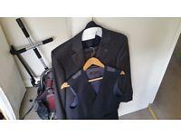 Austin Reed Pinstripe Suit 38r/32r + Waistcoat