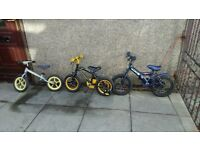 3 free various sized childs bikes