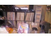 Vinyl records for sale.