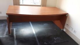 2 metre boat fronted office desks high end
