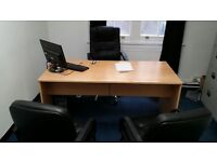 Equip a 2 Person Office Immediately - Large Office Desk/IT Desk/Filing Cabinets