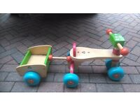 Childs bike/trike and trailer