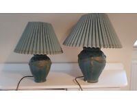 2 Clay table lamps