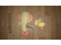 2 YELLOW SOFT TOY