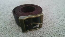 Mens leather quicksilver belt