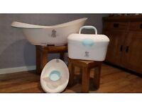 Mothercare Teddy Baby Bath Set & Baby Box / Organiser