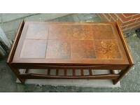 Tiled coffee table vintage