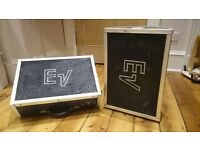 Electro-Voice (EV) FM12-2A 100W two way floor monitor speakers - pair