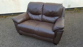 For Sale - 2 Seater Brown Leather Sofa