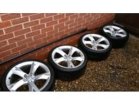 Audi A5 alloy wheels and tyres fit A4 A5 A6