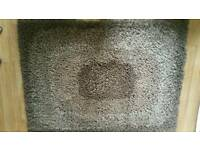 BROWN OMBRE EFFECT SHAGGY RUG, THICK PILE